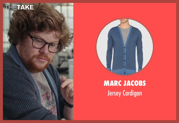 Marc Jacobs blue cardigan from The Intern seen with Zack Pearlman (Unknown Character)