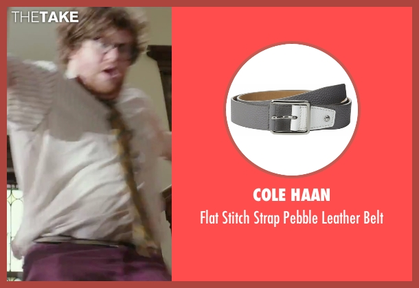 Cole Haan gray belt from The Intern seen with Zack Pearlman (Unknown Character)