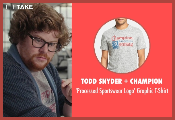 Todd Snyder + Champion gray t-shirt from The Intern seen with Zack Pearlman (Unknown Character)