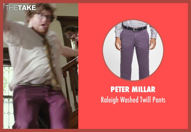Peter Millar purple pants from The Intern seen with Zack Pearlman (Unknown Character)
