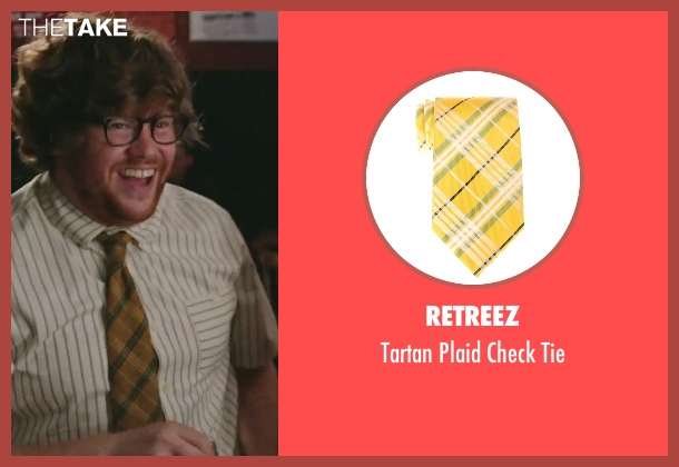 Retreez yellow tie from The Intern seen with Zack Pearlman (Unknown Character)