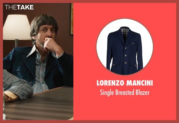 Lorenzo Mancini blue blazer from Vinyl seen with Zak Yankovich (Ray Romano)