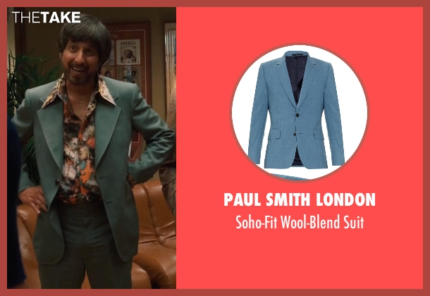 Paul Smith London blue suit from Vinyl seen with Zak Yankovich (Ray Romano)