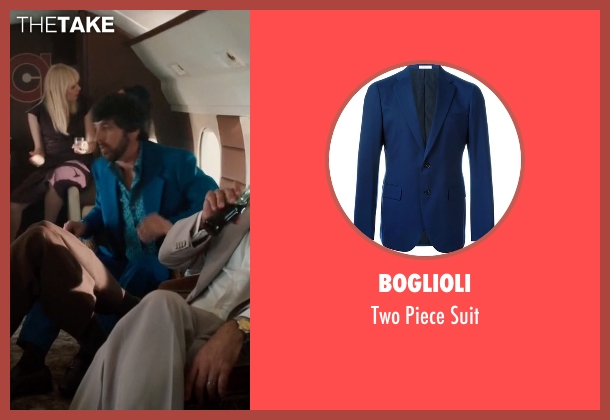 Boglioli blue suit from Vinyl seen with Zak Yankovich (Ray Romano)