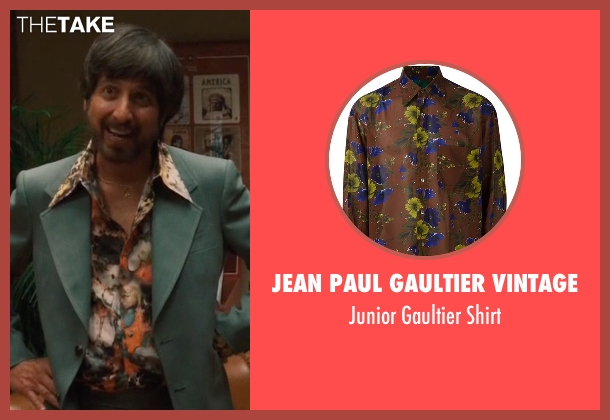 Jean Paul Gaultier Vintage brown shirt from Vinyl seen with Zak Yankovich (Ray Romano)