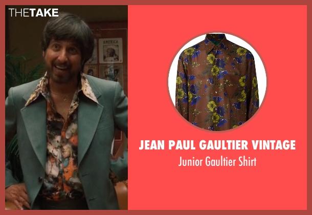 Jean Paul Gaultier Vintage brown shirt from Vinyl seen with Zak Yankovich (Ray Romano)