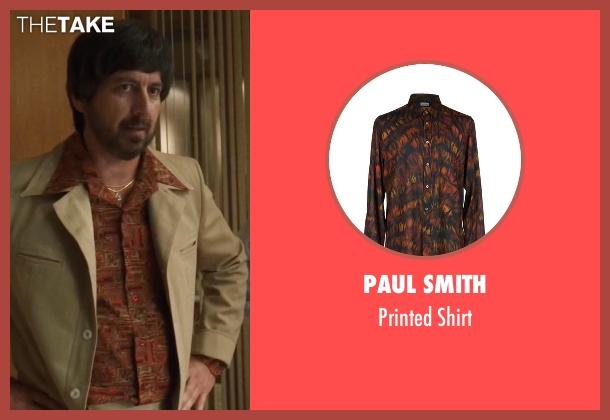 Paul Smith brown shirt from Vinyl seen with Zak Yankovich (Ray Romano)