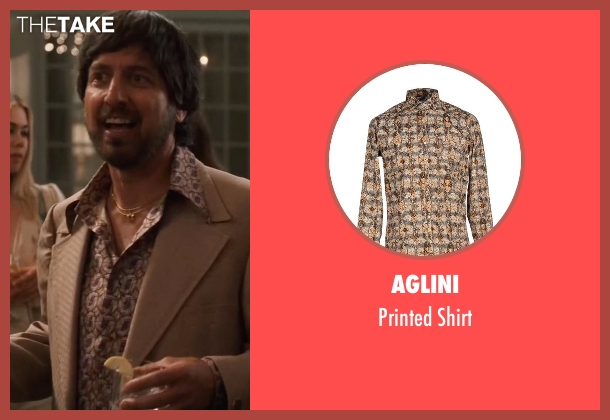Aglini brown shirt from Vinyl seen with Zak Yankovich (Ray Romano)