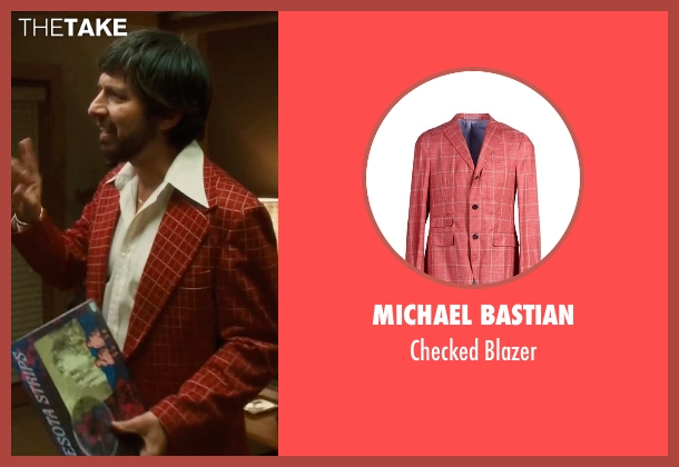 Michael Bastian orange blazer from Vinyl seen with Zak Yankovich (Ray Romano)