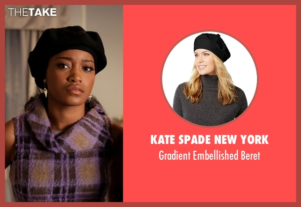 Kate Spade New York black beret from Scream Queens seen with Zayday Williams (Keke Palmer)