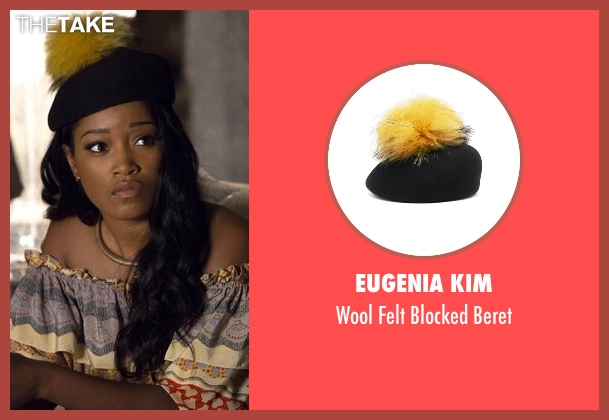 Eugenia Kim black beret from Scream Queens seen with Zayday Williams (Keke Palmer)