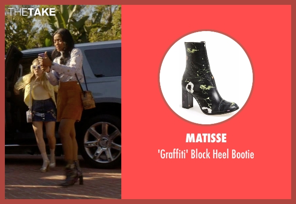 Matisse black bootie from Scream Queens seen with Zayday Williams (Keke Palmer)