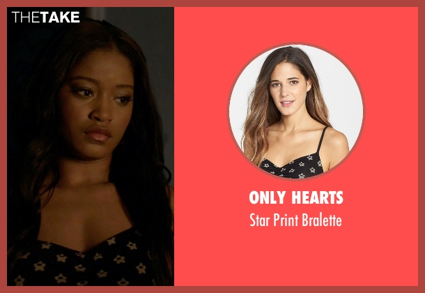 Only Hearts black bralette from Scream Queens seen with Zayday Williams (Keke Palmer)