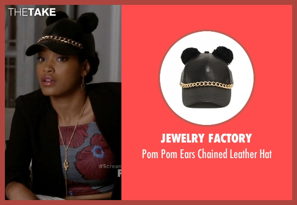Jewelry Factory black hat from Scream Queens seen with Zayday Williams (Keke Palmer)