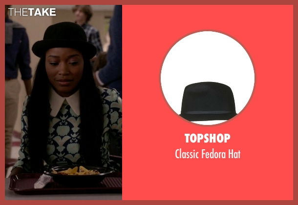 Topshop black hat from Scream Queens seen with Zayday Williams (Keke Palmer)