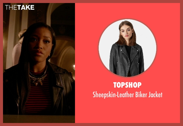 Topshop black jacket from Scream Queens seen with Zayday Williams (Keke Palmer)