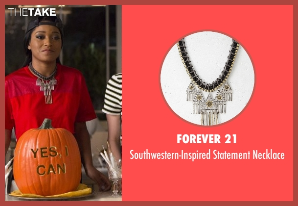 Forever 21 black necklace from Scream Queens seen with Zayday Williams (Keke Palmer)
