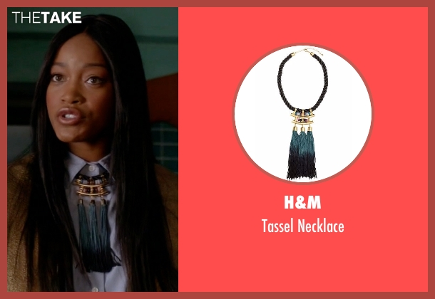 H&M black necklace from Scream Queens seen with Zayday Williams (Keke Palmer)