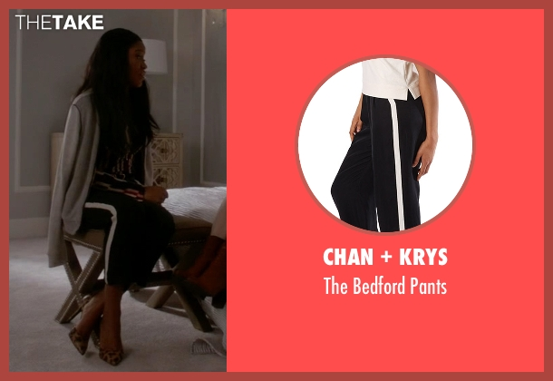 Chan + Krys black pants from Scream Queens seen with Zayday Williams (Keke Palmer)