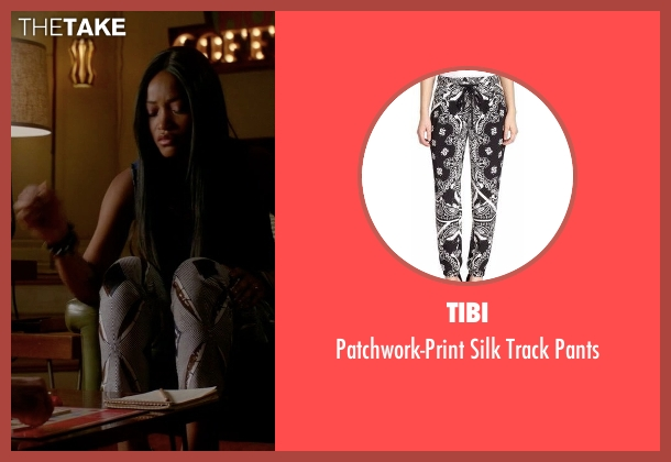Tibi black pants from Scream Queens seen with Zayday Williams (Keke Palmer)
