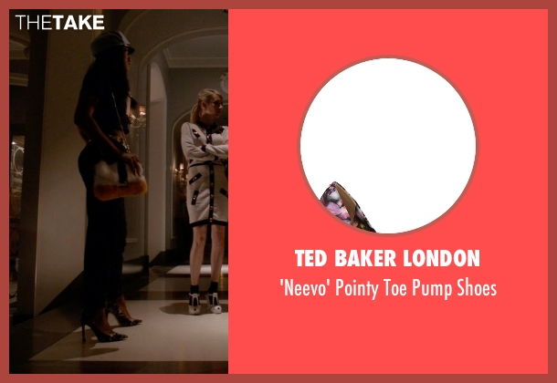 Ted Baker London black shoes from Scream Queens seen with Zayday Williams (Keke Palmer)