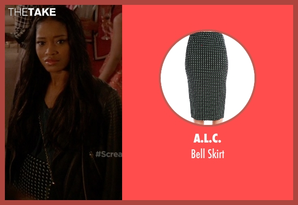 A.L.C. black skirt from Scream Queens seen with Zayday Williams (Keke Palmer)