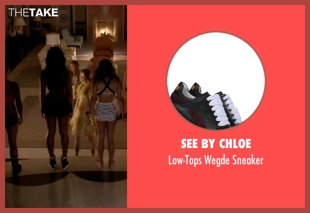 See By Chloe black sneaker from Scream Queens seen with Zayday Williams (Keke Palmer)