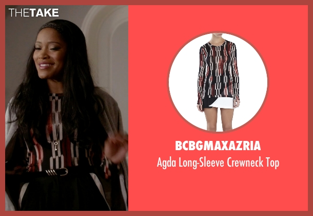 BCBGmaxazria black top from Scream Queens seen with Zayday Williams (Keke Palmer)