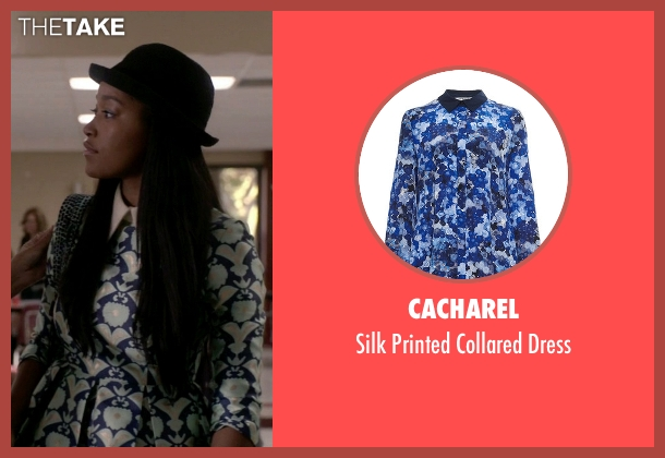 Cacharel blue dress from Scream Queens seen with Zayday Williams (Keke Palmer)