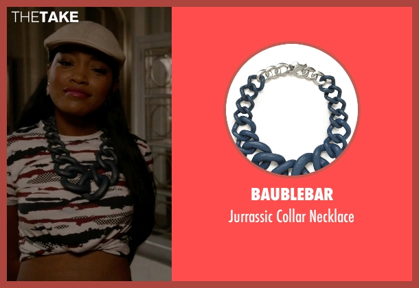 Baublebar blue necklace from Scream Queens seen with Zayday Williams (Keke Palmer)