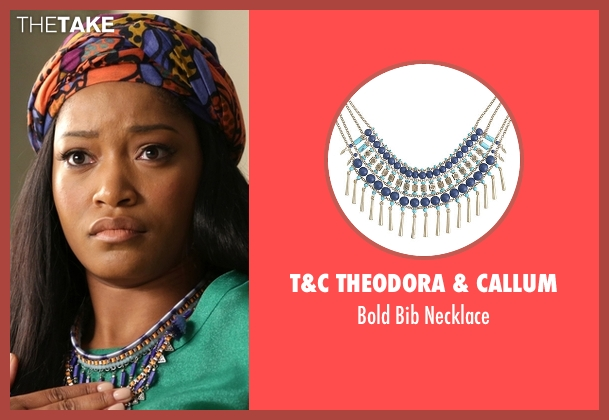 T&C Theodora & Callum blue necklace from Scream Queens seen with Zayday Williams (Keke Palmer)