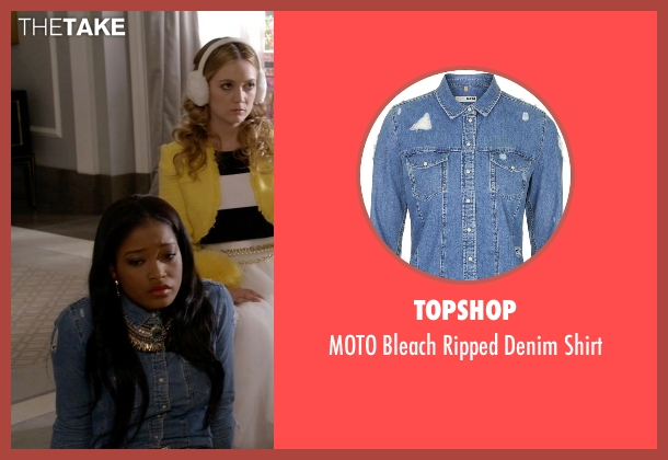 Topshop blue shirt from Scream Queens seen with Zayday Williams (Keke Palmer)