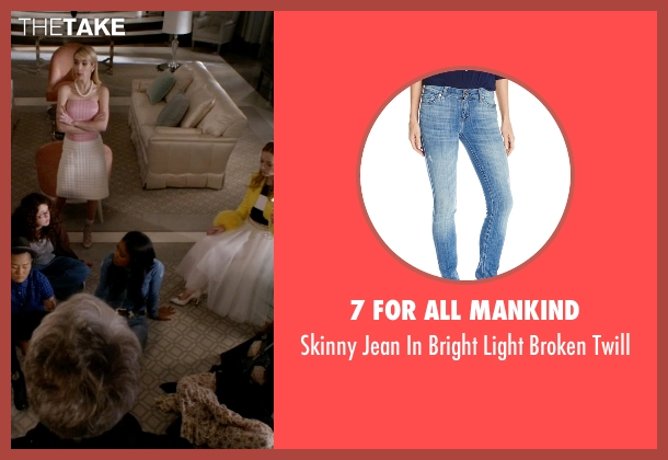 7 For All Mankind blue twill from Scream Queens seen with Zayday Williams (Keke Palmer)