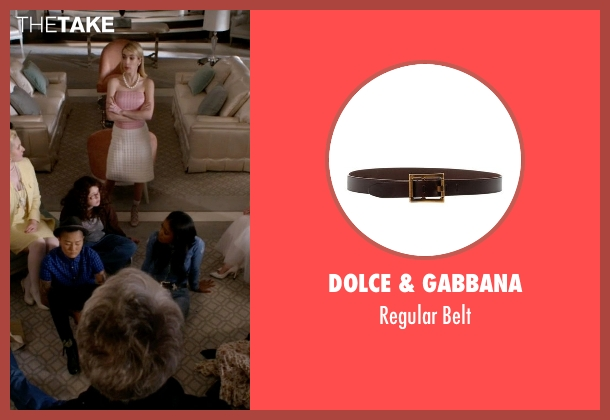 Dolce & Gabbana brown belt from Scream Queens seen with Zayday Williams (Keke Palmer)