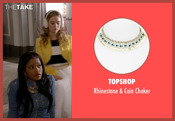 Topshop gold choker from Scream Queens seen with Zayday Williams (Keke Palmer)
