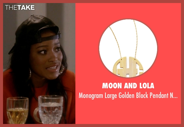 Moon And Lola gold necklace from Scream Queens seen with Zayday Williams (Keke Palmer)