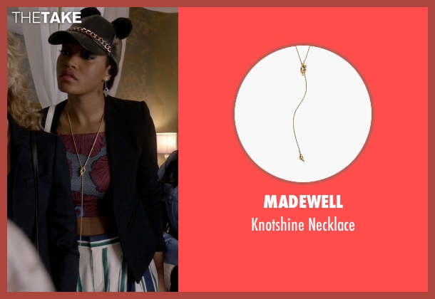 Madewell gold necklace from Scream Queens seen with Zayday Williams (Keke Palmer)