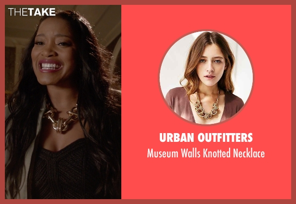 Urban Outfitters gold necklace from Scream Queens seen with Zayday Williams (Keke Palmer)