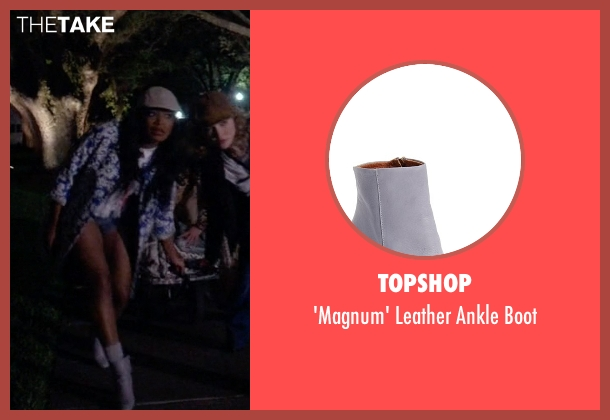 Topshop gray boot from Scream Queens seen with Zayday Williams (Keke Palmer)