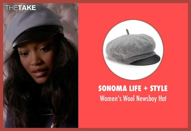 Sonoma Life + Style gray hat from Scream Queens seen with Zayday Williams (Keke Palmer)