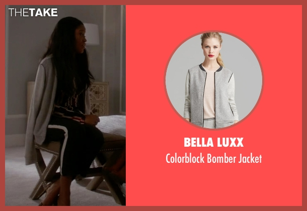 Bella Luxx gray jacket from Scream Queens seen with Zayday Williams (Keke Palmer)