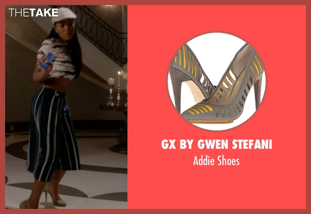 GX by Gwen Stefani gray shoes from Scream Queens seen with Zayday Williams (Keke Palmer)