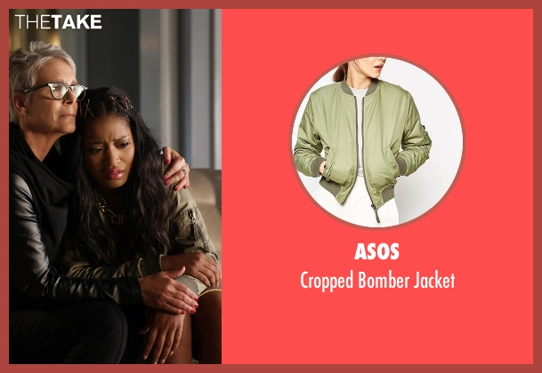 Asos green jacket from Scream Queens seen with Zayday Williams (Keke Palmer)