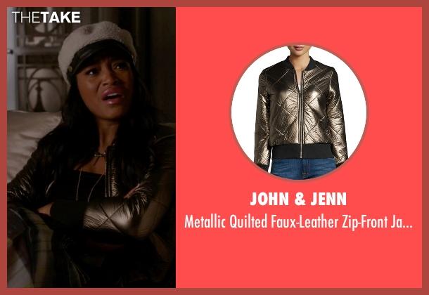 John & Jenn green jacket from Scream Queens seen with Zayday Williams (Keke Palmer)