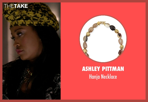 Ashley Pittman necklace from Scream Queens seen with Zayday Williams (Keke Palmer)