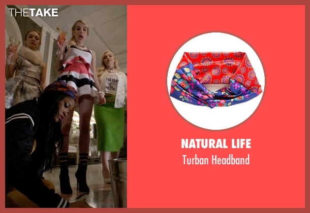 Natural Life orange headband from Scream Queens seen with Zayday Williams (Keke Palmer)