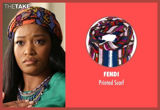 Fendi orange scarf from Scream Queens seen with Zayday Williams (Keke Palmer)