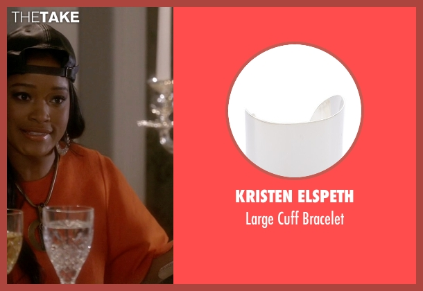 Kristen Elspeth silver bracelet from Scream Queens seen with Zayday Williams (Keke Palmer)