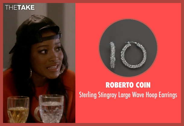 Roberto Coin silver earrings from Scream Queens seen with Zayday Williams (Keke Palmer)