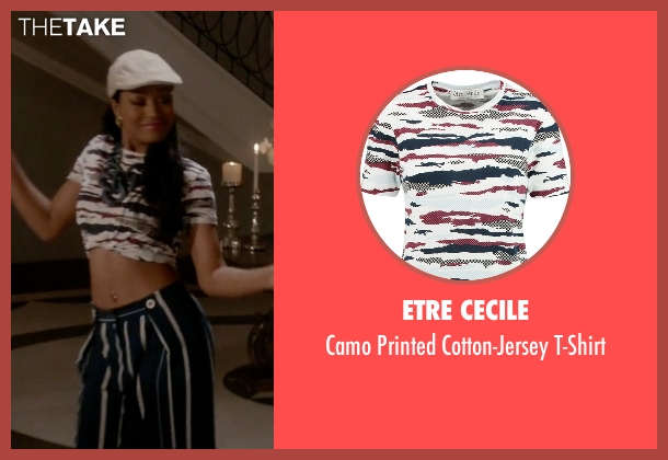 Etre Cecile t-shirt from Scream Queens seen with Zayday Williams (Keke Palmer)